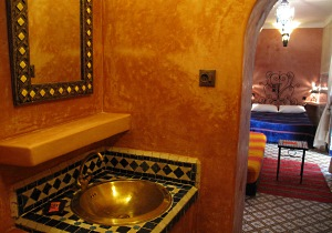 Riad Dar Tamlil, double or triple room patio